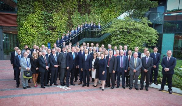 Chairman Phil Gibbs with UK Prime Minister David Cameron and Business Secretary Sajid Javid along with 50 other delegates.